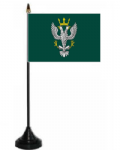 Mercian Regiment Desk / Table Flag with plastic stand and base.